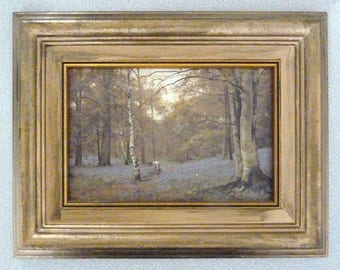 """A Framed Oil Painting Entitled """"Beechwood In May"""""""