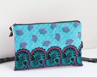 92f0faa987 Blue fabric bum bag - Women's African waist bag - Pink ethnic hip bag -  Ankara fabric clutch - Handmade in London - Funky womens belt bag