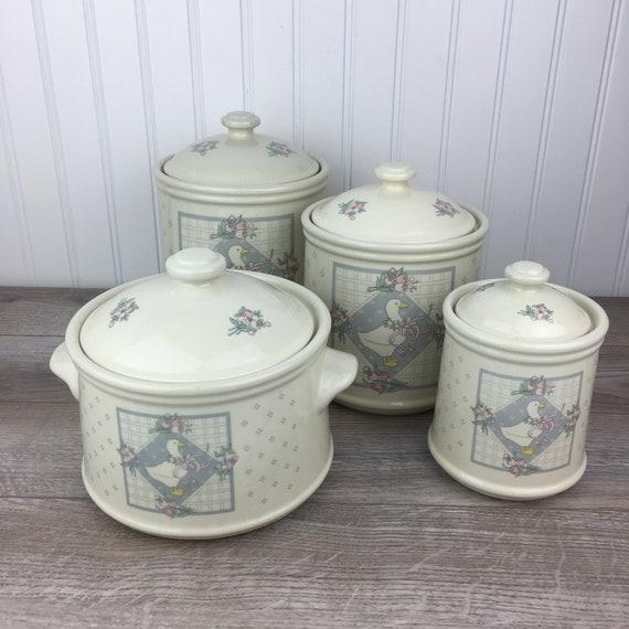 Vintage50/'s//60/'s Retro Style Ceramic Tea Canister Storage Jar