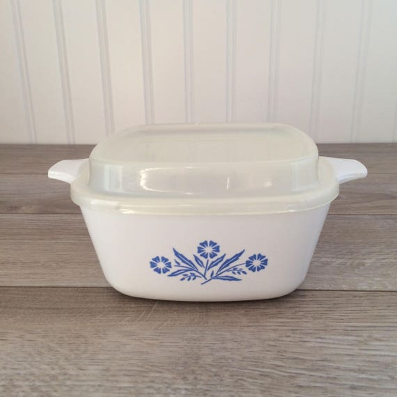 Vintage Corning Ware Casserole With Plastic Lid 700ml Etsy
