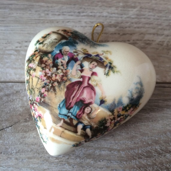 Potpourri Fai Da Te.Vintage Ceramic Pomander Heart Shaped Vintage Ceramic Etsy