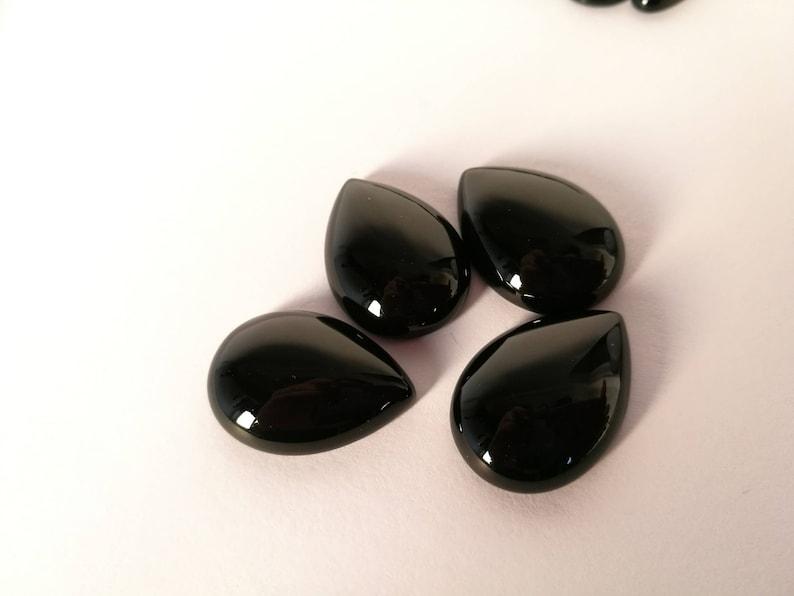 Tear Drop Smooth Tear Drop Black Agate Sweet Drop Black Agate gemstone Healing stones