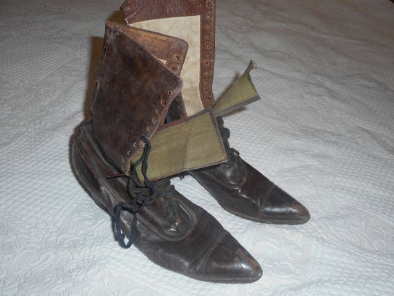 1890s Victorian Brown Leather Boots