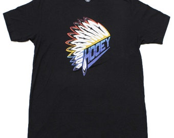 8eacdd3e6b Hooey Cowboy Black with Headdress Logo Men's T-Shirt
