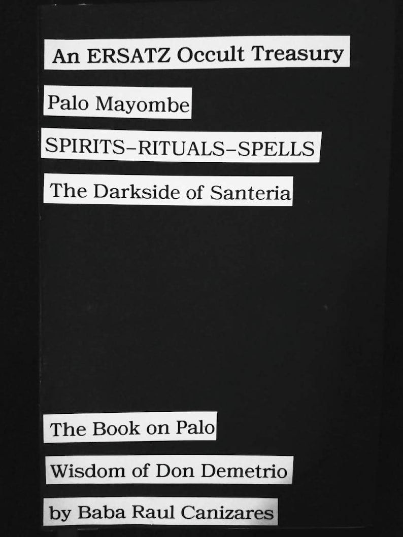 Palo : An ERSATZ Occult Treasury | Ersatz B O O K