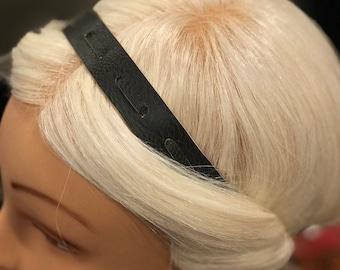 Adjustable Vegan Leather Braid Headband