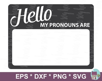 Pronoun name tag | Etsy