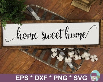 2059a128e0f Home Sweet Home SVG Cut Files For Silhouette and Cricut - Png