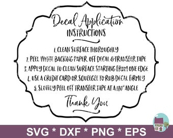 photo relating to Printable Vinyl Decal Instructions named Decal directions Etsy