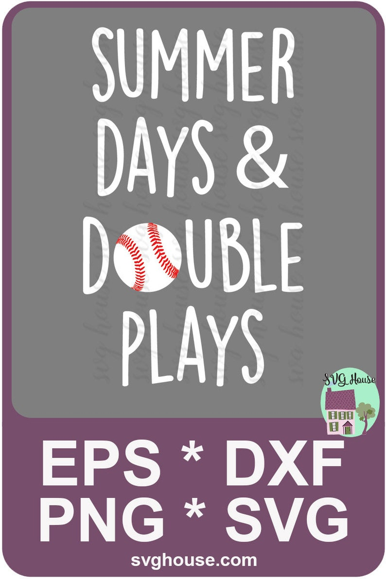 75ecac7ff66f Summer Days And Double Plays Svg Baseball Mom Svg Baseball