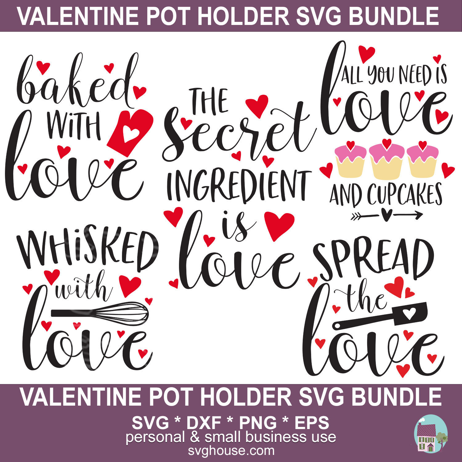 Pot Holder Svg: Valentine Pot Holder SVG Bundle Vector Cut Files For