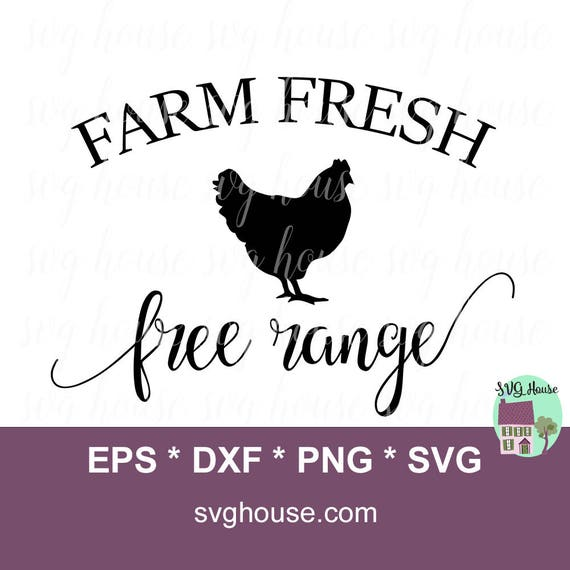 Farm Fresh Svg Chicken Svg Chicken Clipart Farmhouse Svg Etsy