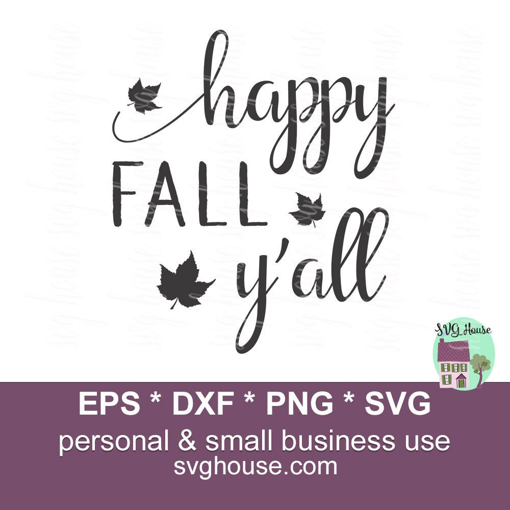 Download Happy Fall Y'All Svg Fall Svg Happy Fall Svg Png Eps | Etsy