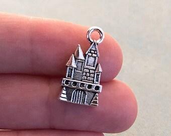 Tibetan Silver Fairytale Castle//Palace 3D Charms 5 per pack