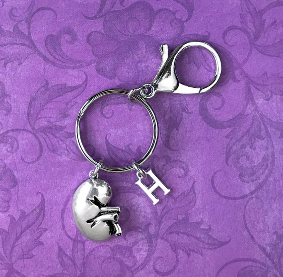 2 Human Kidney Organ Charms Antique Silver Tone MD91