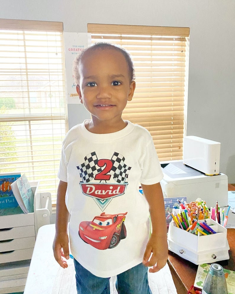 Racecar Birthday Party Cars Birthday Party Lighting Mcqueen Cars Birthday Shirt