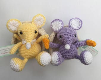 Mouse with cheese - Amigurumi Crochet