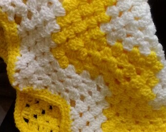 Yellow & White Baby Afghan