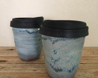 8ef8ad2d497b Travel Mug, Eco Friendly Cup, Small Coffee Cup, Keep Cup, Pottery Cup with Silicone  Lid, Lidded Cup, Tea Cup, To GO Cup, Travel Cup 10oz
