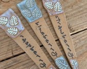 Berry Marker, Plant Stakes, Plant Markers, Garden Markers, Strawberry, Blueberry, Raspberry Garden Markers, Blueberry Markers, Garden Art