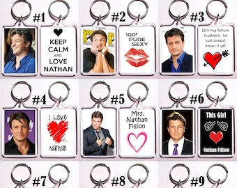 Nathan Fillion Acrylic Keychain - Choose Your Favorite 12 Different Designs
