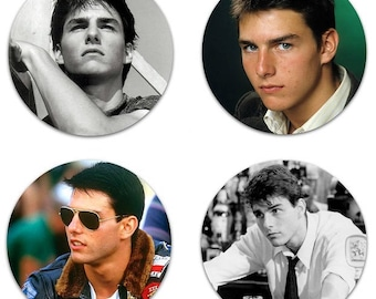 "Tom Cruise Set Of 4 Large 2.25"" Pinback Buttons Or Magnets"