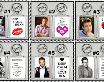 Ben Affleck Acrylic Keychain - Choose Your Favorite 6 Different Designs