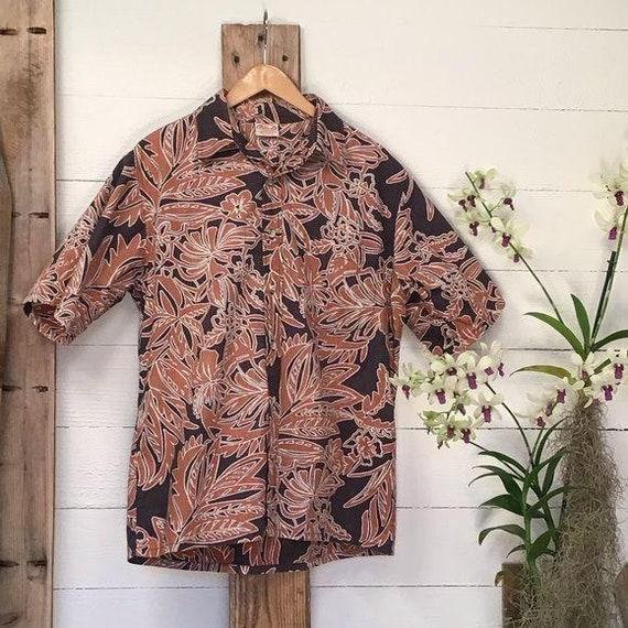 Vintage Hawaiian Aloha Shirt Go Barefoot Aloha Shi