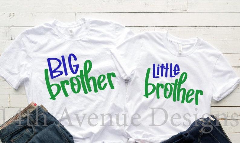 Svg Big Brother Little Brother Svg Dxf Hand Lettered Clip Art Brother Shirt Svg Digital Overlay