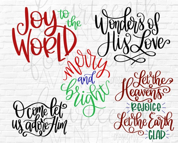 Christmas Overlays Hand Lettered Holiday Png Christmas Card Etsy