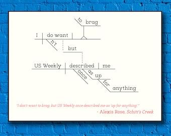 Schitt's Creek - Alexis Rose - Sentence Diagram Print