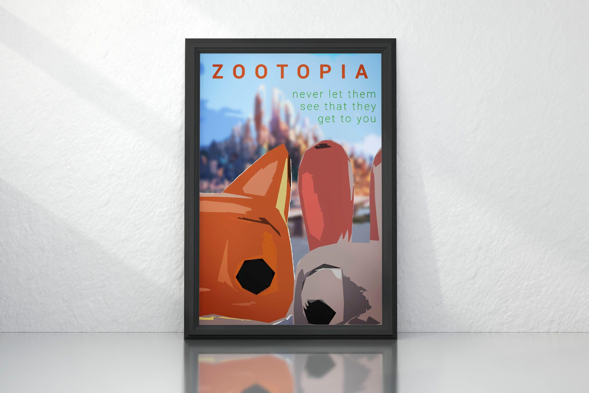 Zoomania 2016 minimalistischen Filmposter