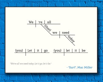 Mac Miller - Surf - Sentence Diagram Print