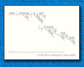 "Jason Isbell - ""If We Were Vampires"" Sentence Diagram Print"