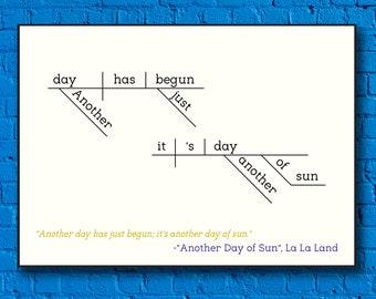 La La Land Sentence Diagram Print