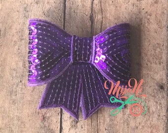 Sequin - Bow - Clip - Barrette - Party - Everyday - Hair - Accessory - Simple - Cute - Chic - Girl - Baby - Toddler