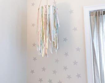 Nursery Mobile / Bohemian Ribbon Style