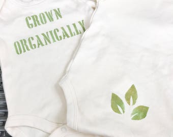 Baby Bodysuit / Organic Cotton / Grown Organically