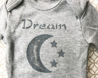 Baby Bodysuit / Organic Cotton / Moon & Stars
