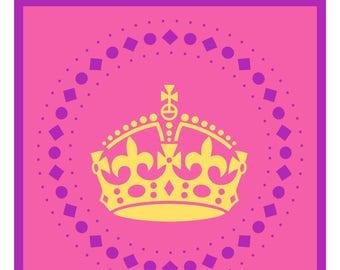 Princess Pennant Banner Printable Alphabet Instant Download