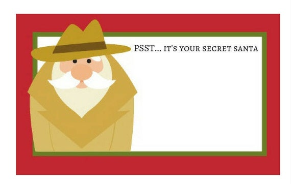 Lucrative image with regard to secret santa tags printable