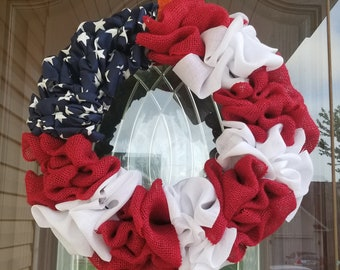 American Flag Wreath - Patriotic Wreath