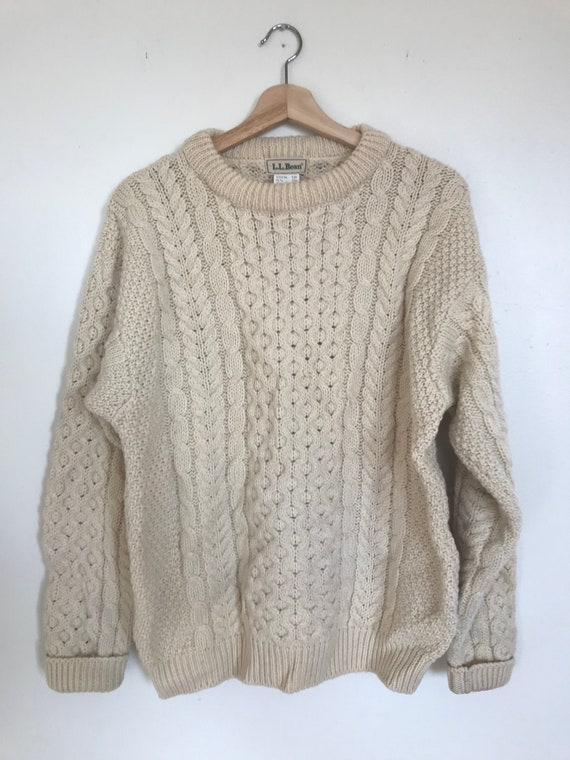 Irish Cable Knit Fisherman Sweater