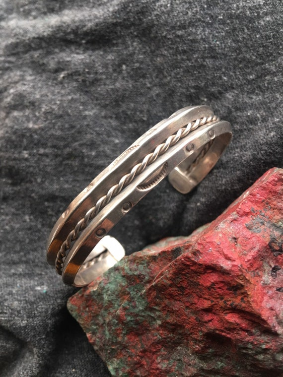 Old pawn classic sterling cuff