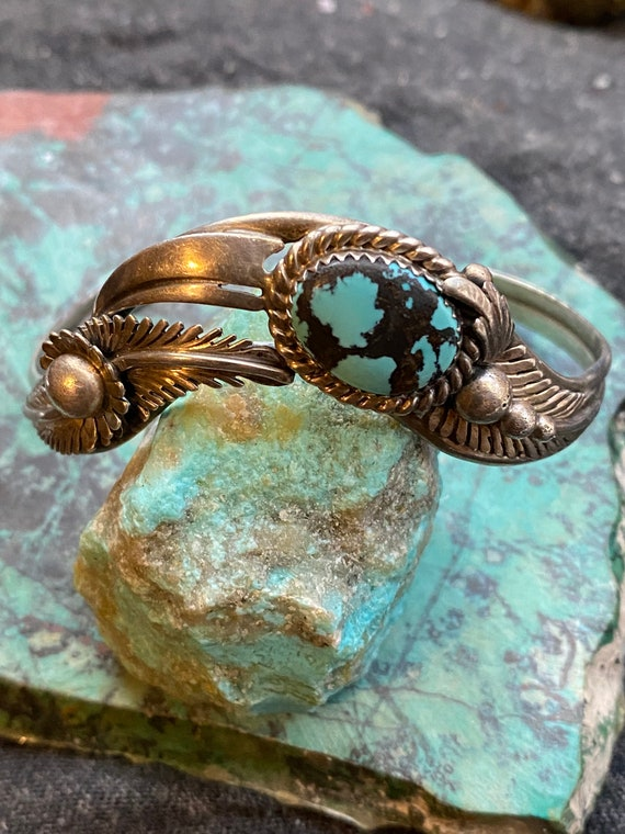 Make An Offer! Marvelous Vintage Native American Navajo Coral And Candelaria Turquoise Sterling Silver Ring Old