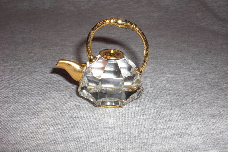 miniature collectible crystal figurine Teapot Large