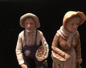 Vintage home interior figurines