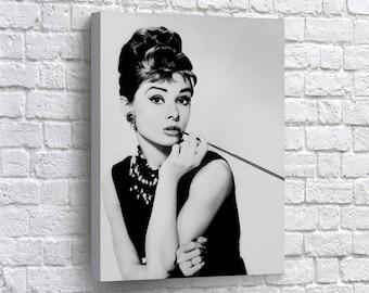Audrey Hepburn Canvas Print Breakfast At Tiffanyu0027s Wall Art Home Decor  Vintage Design Audrey Hepburn Wall Art