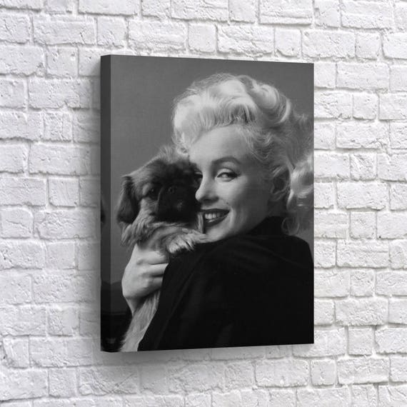 Marilyn Monroe Canvas Print Wall Art Marilyn Monroe Decor On Etsy