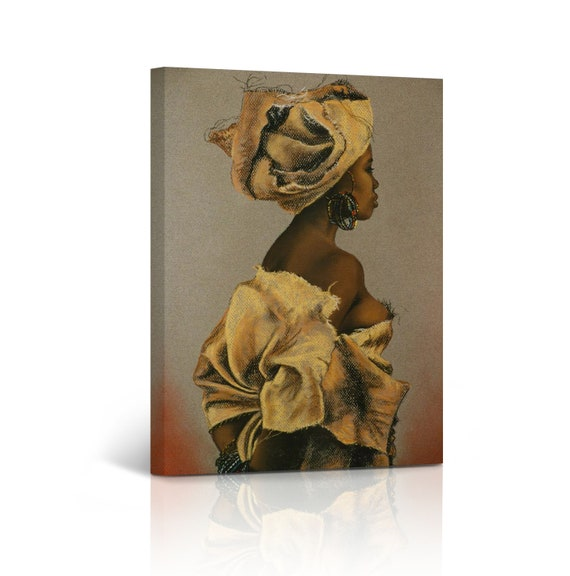 African Wall Art Woman Canvas Print Painting Home Decor Etsy